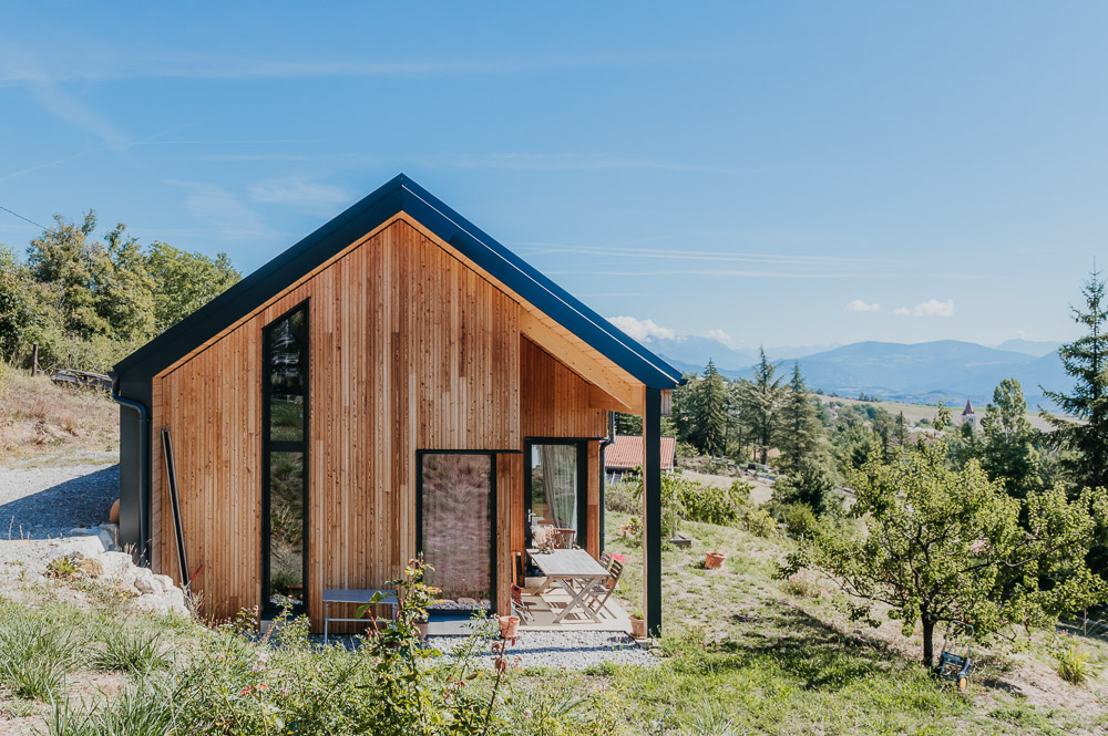 maison panneau bois CLT Drôme