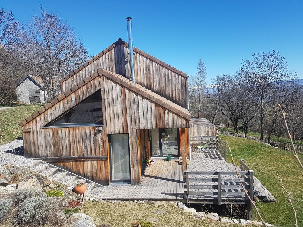 maison bois joli bardage vieilli montélimar